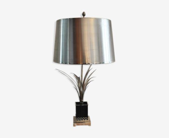 Lamp Reed Metal Silver Color Vintage 7sylkyp