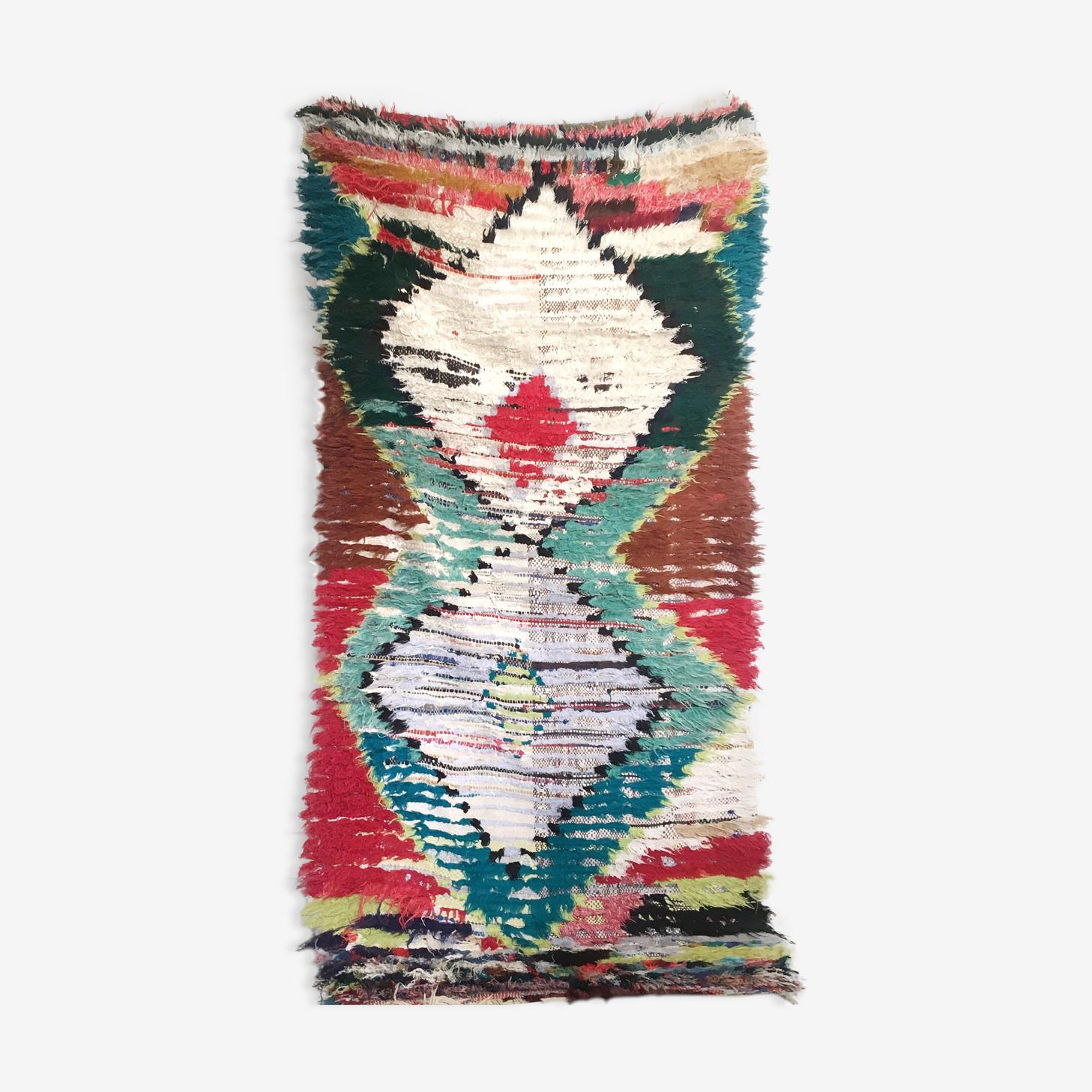 Tapis Berbere Azilal 90x192cm Laine Coton Multicolore Ethnique