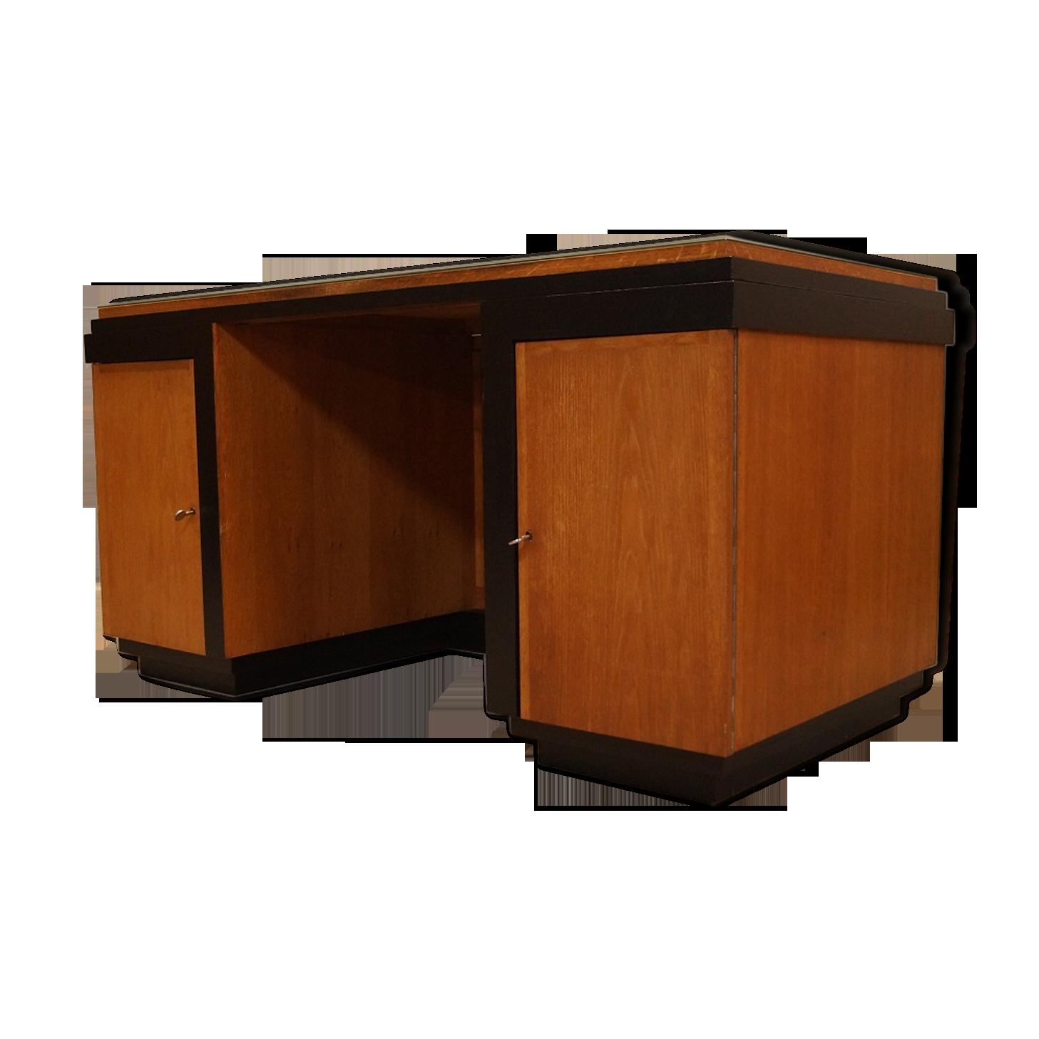 Bureau de notaire vintage bois matériau marron