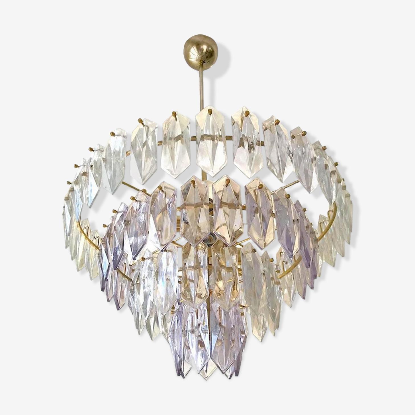 Glass chandelier Kinkeldey 1960