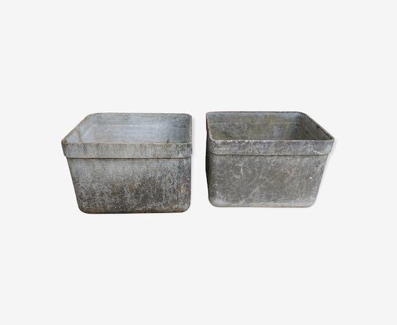 Paire de bacs en fibro ciment