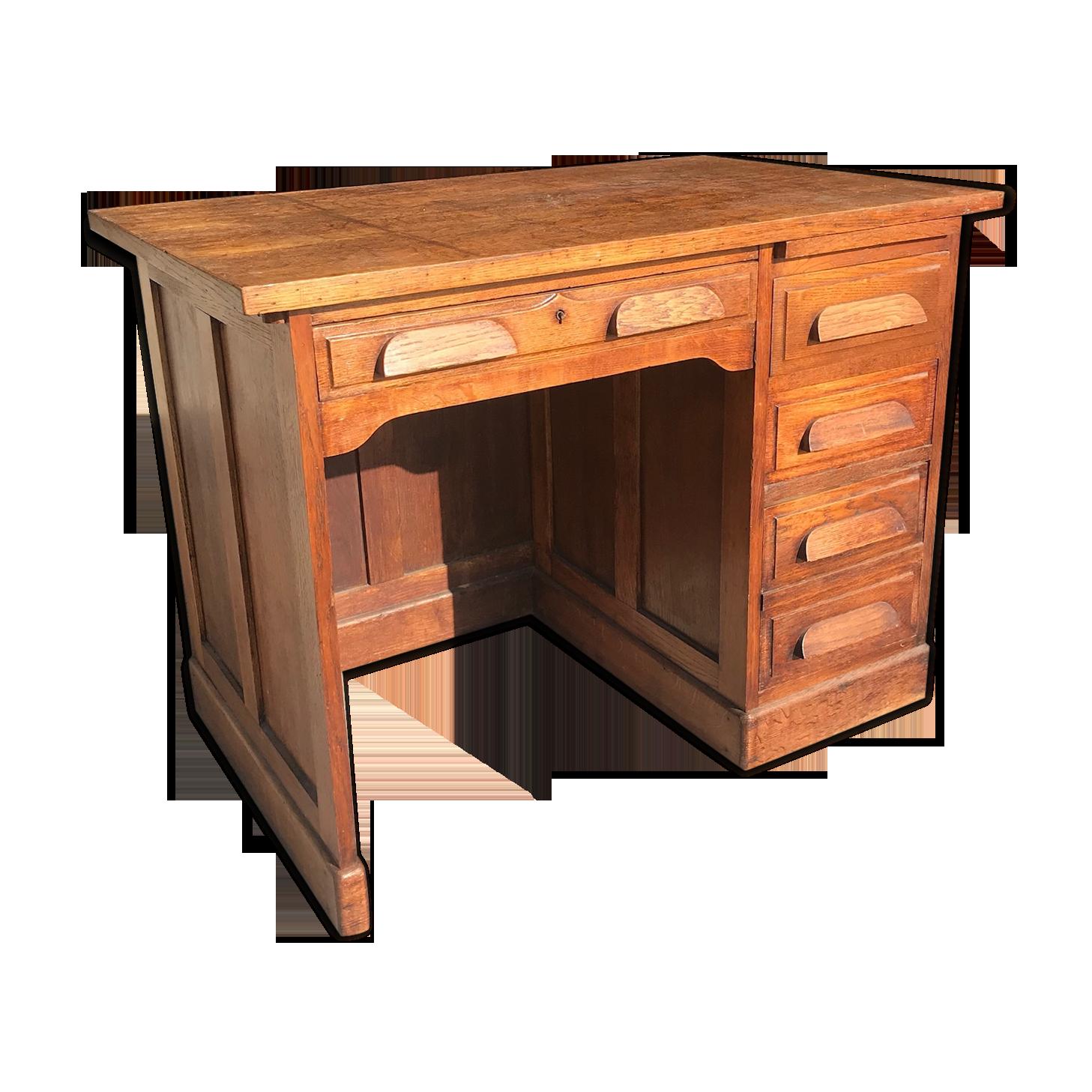 Bureau de notaire des années bois matériau bois couleur