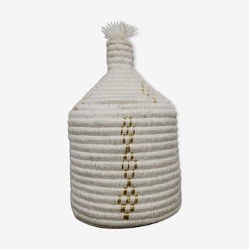 Panier tissé blanc