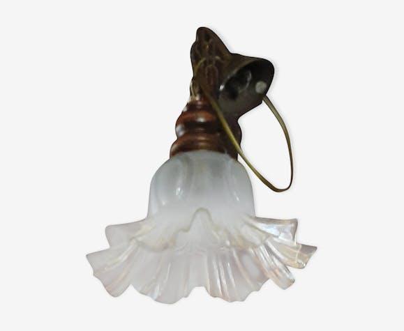 Suspension en verre  forme tulipe