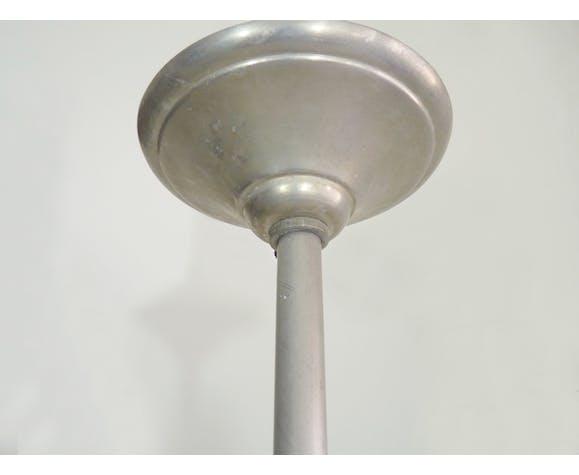 Suspension en verre plafonnier art déco structure en aluminium