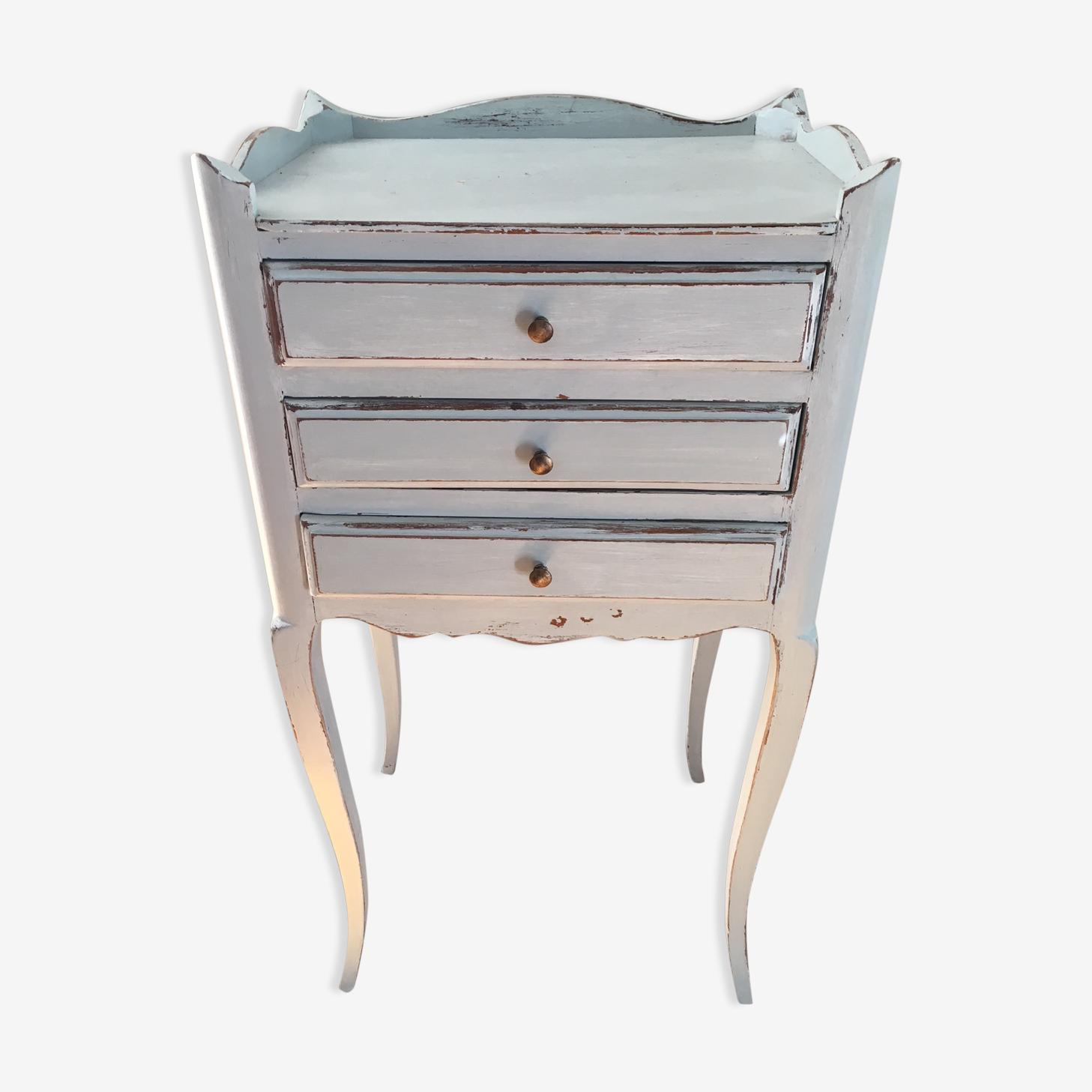 Vintage patinated bedside table