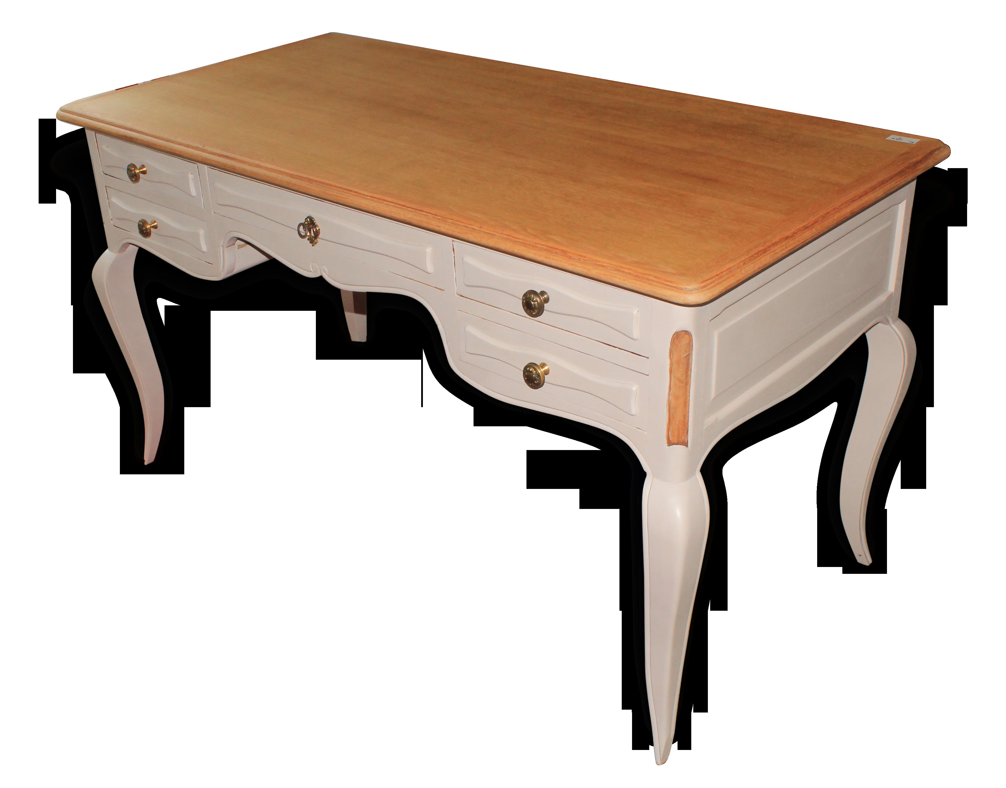 Ancien bureau de style restauré bois matériau blanc