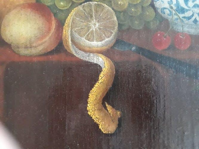 Nature morte aux citrons et raisins