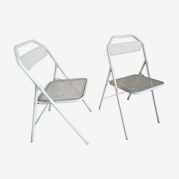 Paire de chaises pliantes de jardin