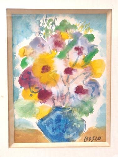 Aquarelle Bouquet de fleurs nature morte
