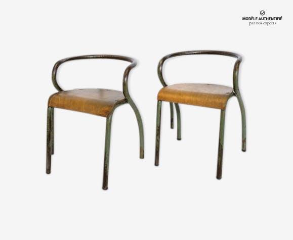 Paire de chaises de Jacques Hitier éditée par Mobilor