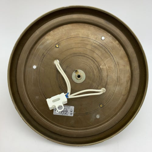 Plafonnier en laiton et globe en verre J P Ryckaert