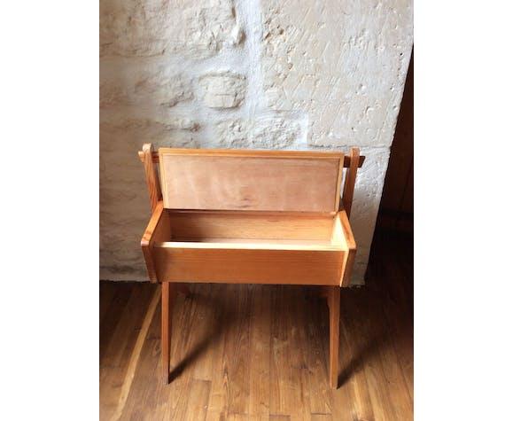 Table boîte à couturière vintage 70