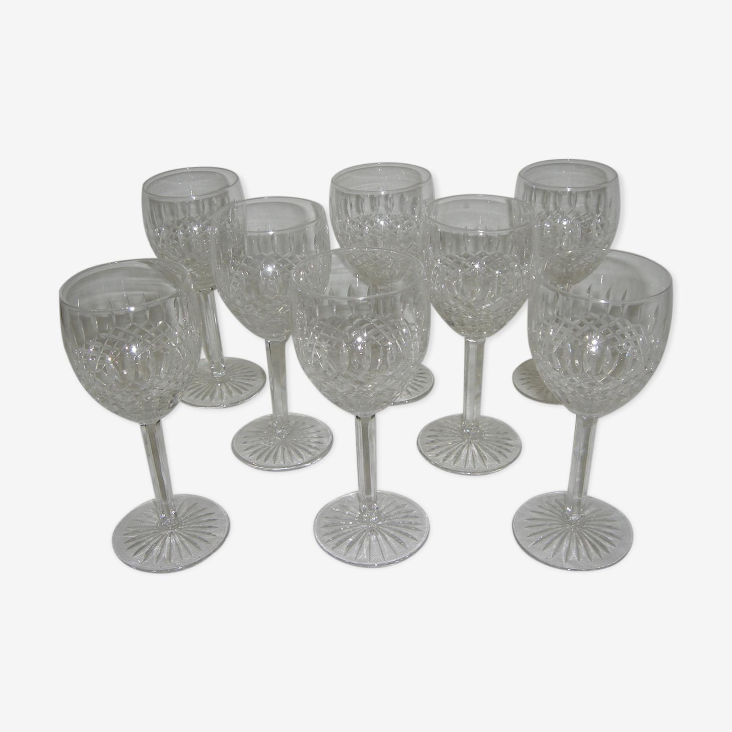 8 verres Saint Louis,  Lorraine, modèle Vendôme 12,5cm