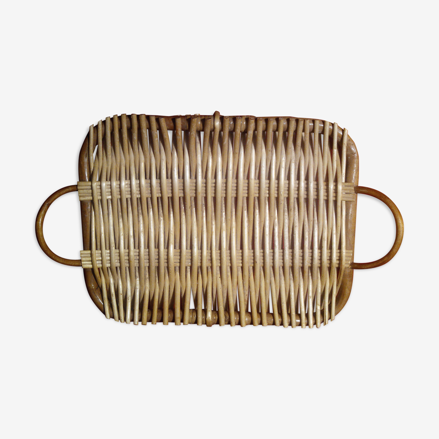 Plateau bambou rotin