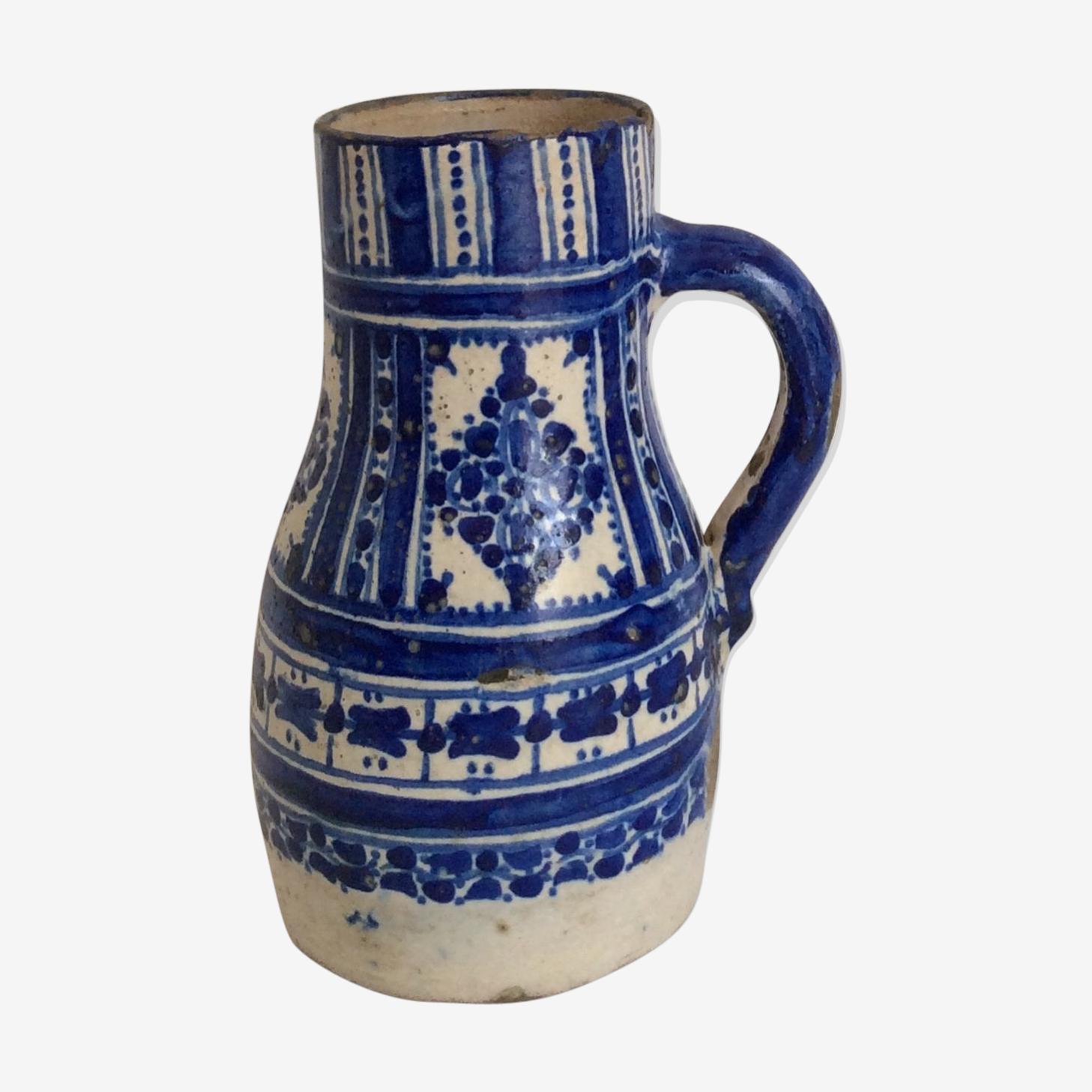 Pichet en faïence Maroc début XX siècle