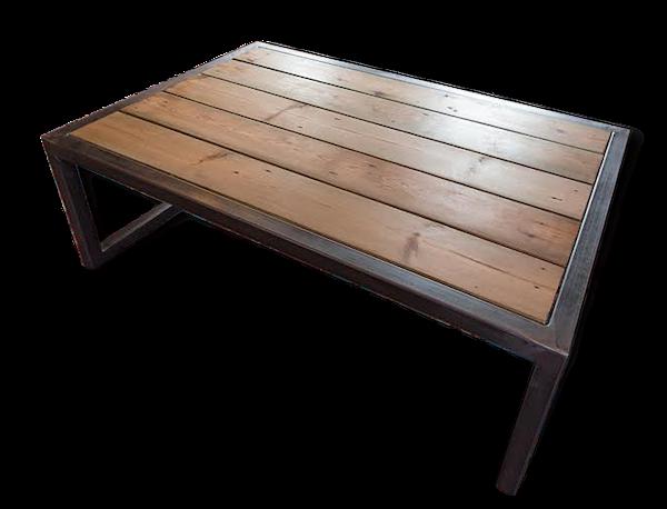 Table basse bois métal NY
