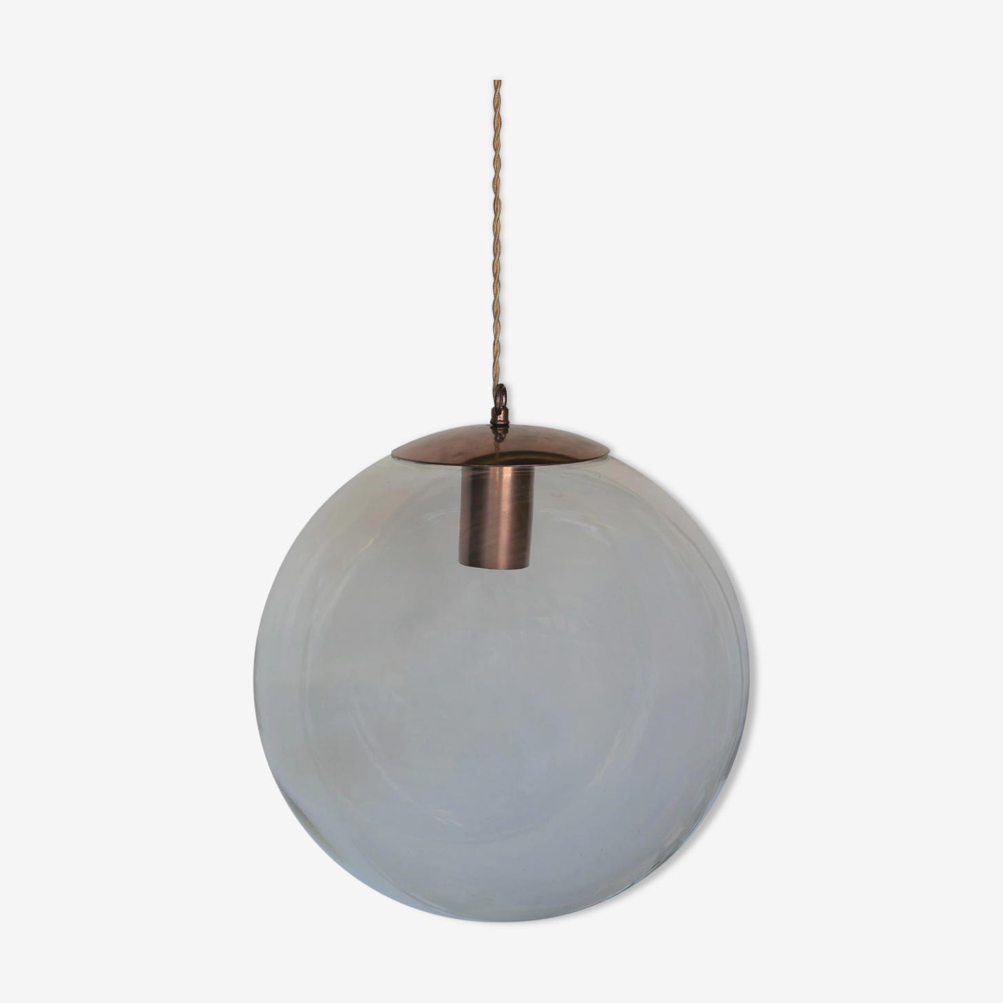 """Vintage glass """"ball"""" hanging lamp edited by Peill & Putzler"""
