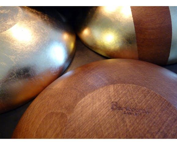Bols baribocraft vintage, revisité avec de la feuille d'or