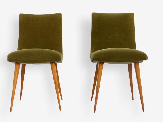 Paire de chaises vintage design français 1960