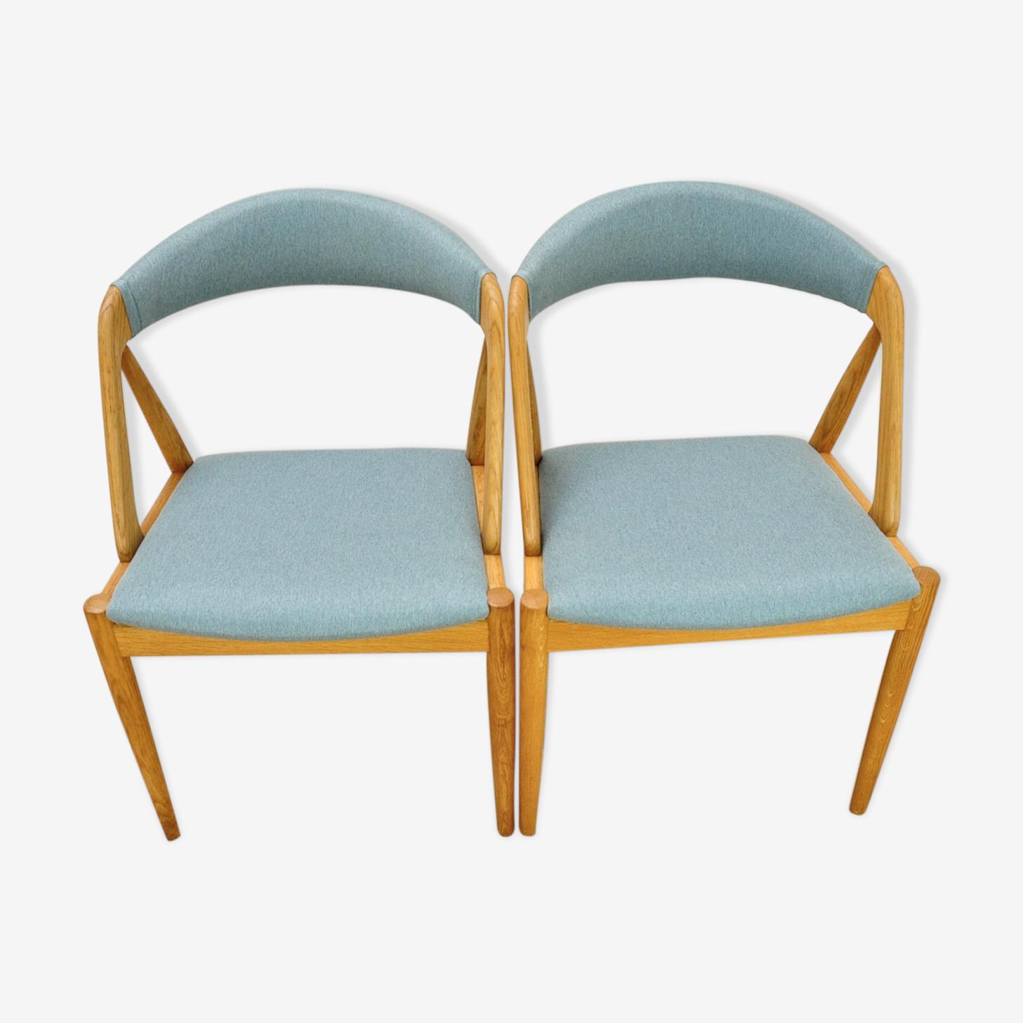 Paire de chaises de Kai Kristian pour Schou Andersen 1960