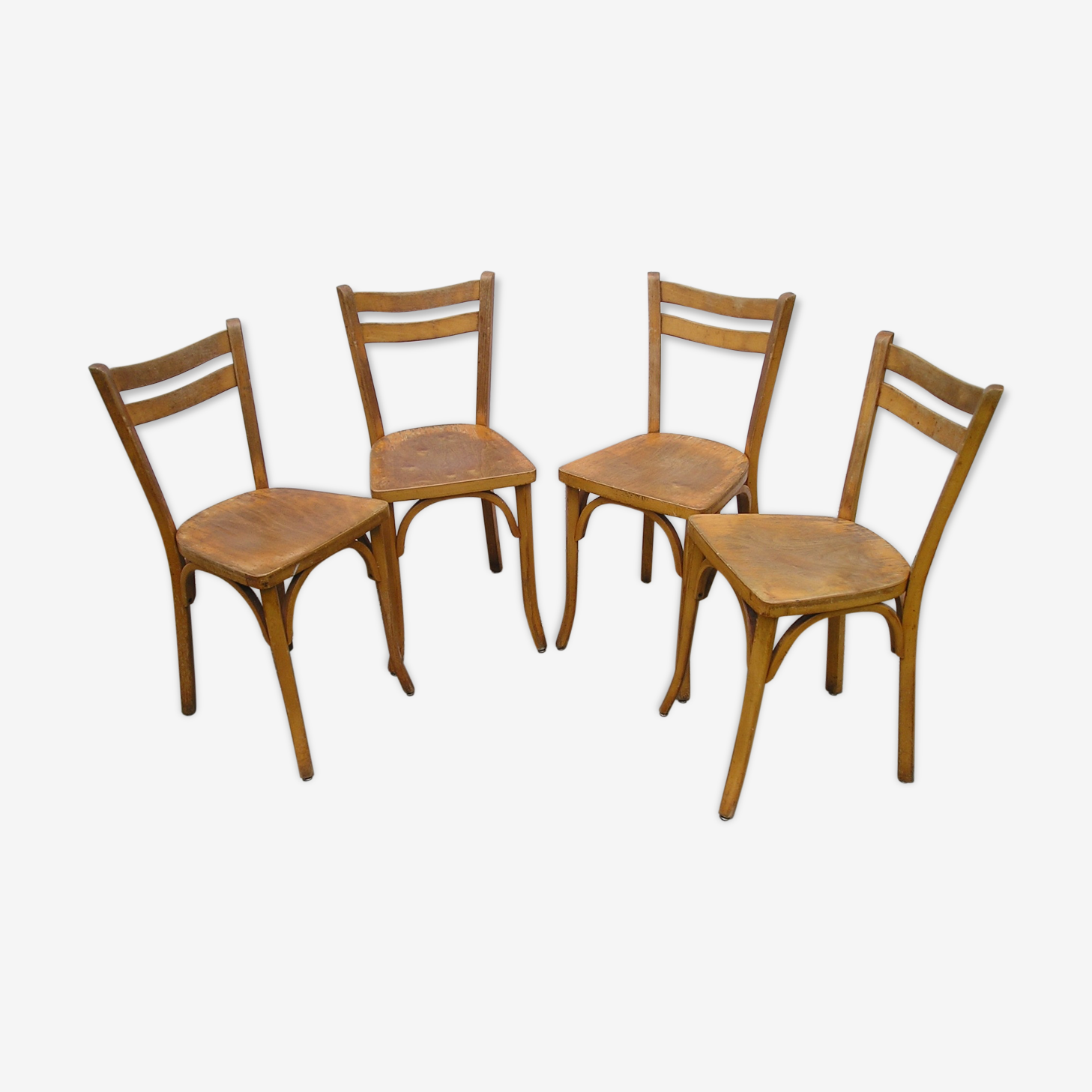 Lot de 4 chaises de bistrot Baumann