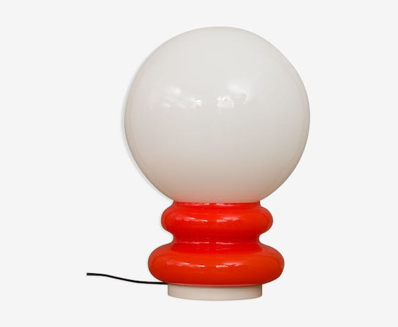 Italian space age Murano glass table lamp