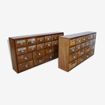 Pair of furniture apothecary