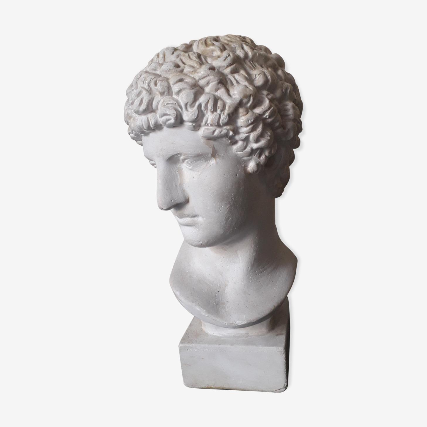 Bust plaster Apollo XIX th