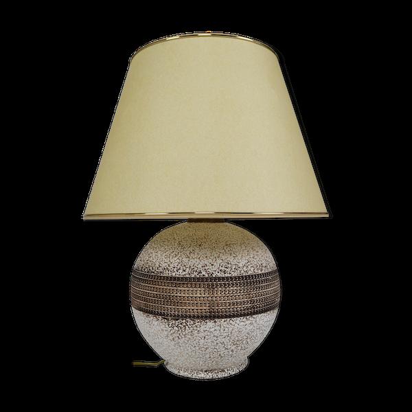 Lampe ceramique-porcelaine-faience beige