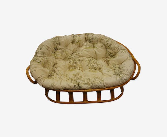 Sofa shell 2 places in rattan vintage years 60/70