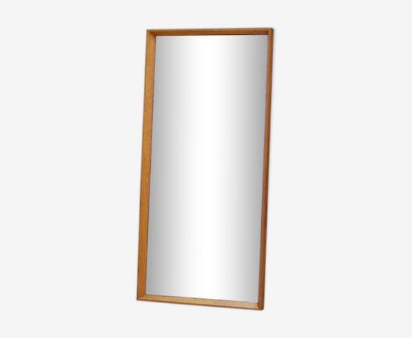Miroir classique danois milieu du siècle 89x44cm