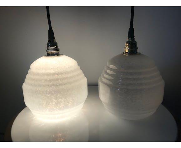 Lot de lampes baladeuses verre de Clichy