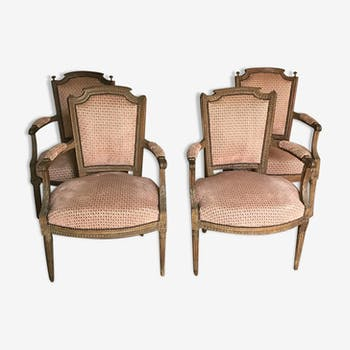 Set of  of Louis XVI period armchairs