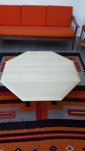 Table basse en travertin des années 70