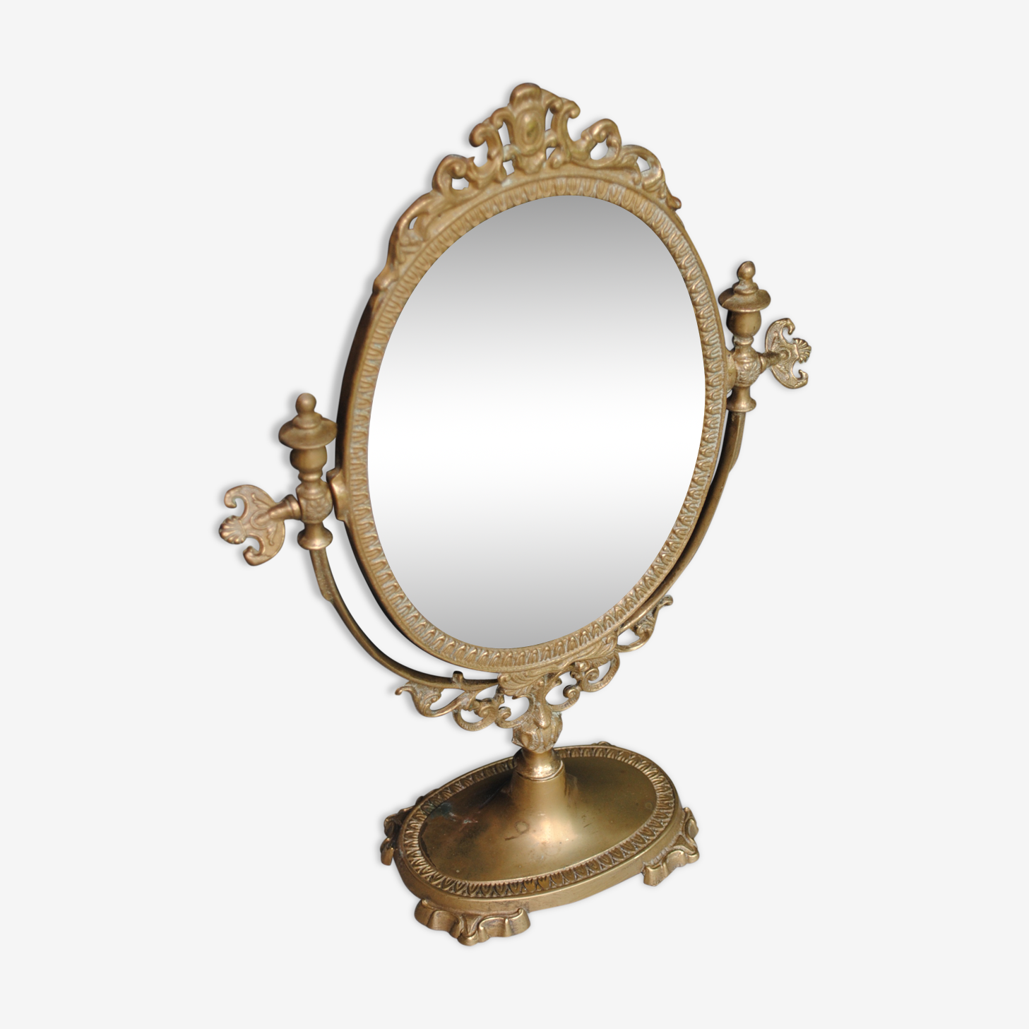 Miroir coiffeuse en bronze