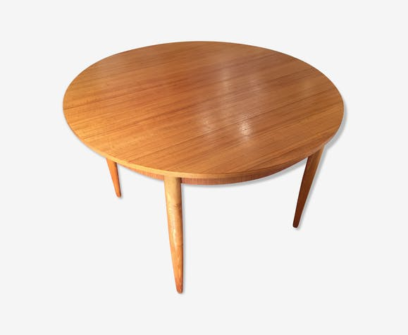Table Ronde Scandinave Extensible.Table Ronde Scandinave Extensible 4 8 Personnes Mobelfabrik