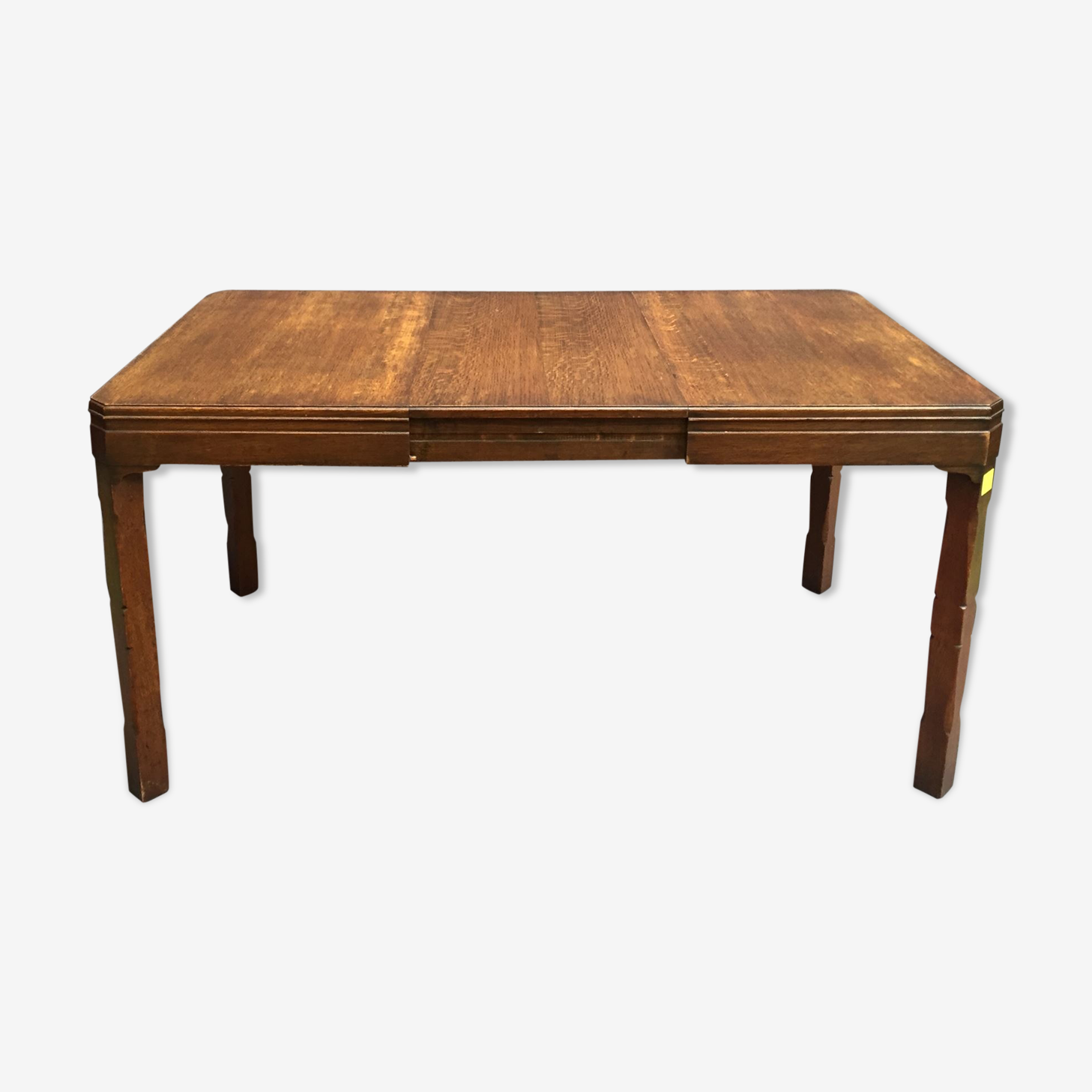 Table à allonge en chêne des années 1930