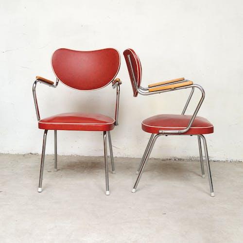 Ensemble de 3 chaises Fifties