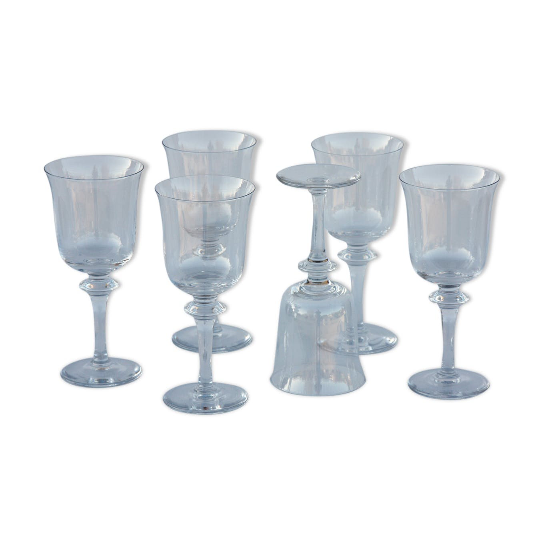 Série de 6 verres à eau en cristal de Daum modèle Saumur - glass and crystal  - transparent - classic - VVYbVIO 73d50c37a84d