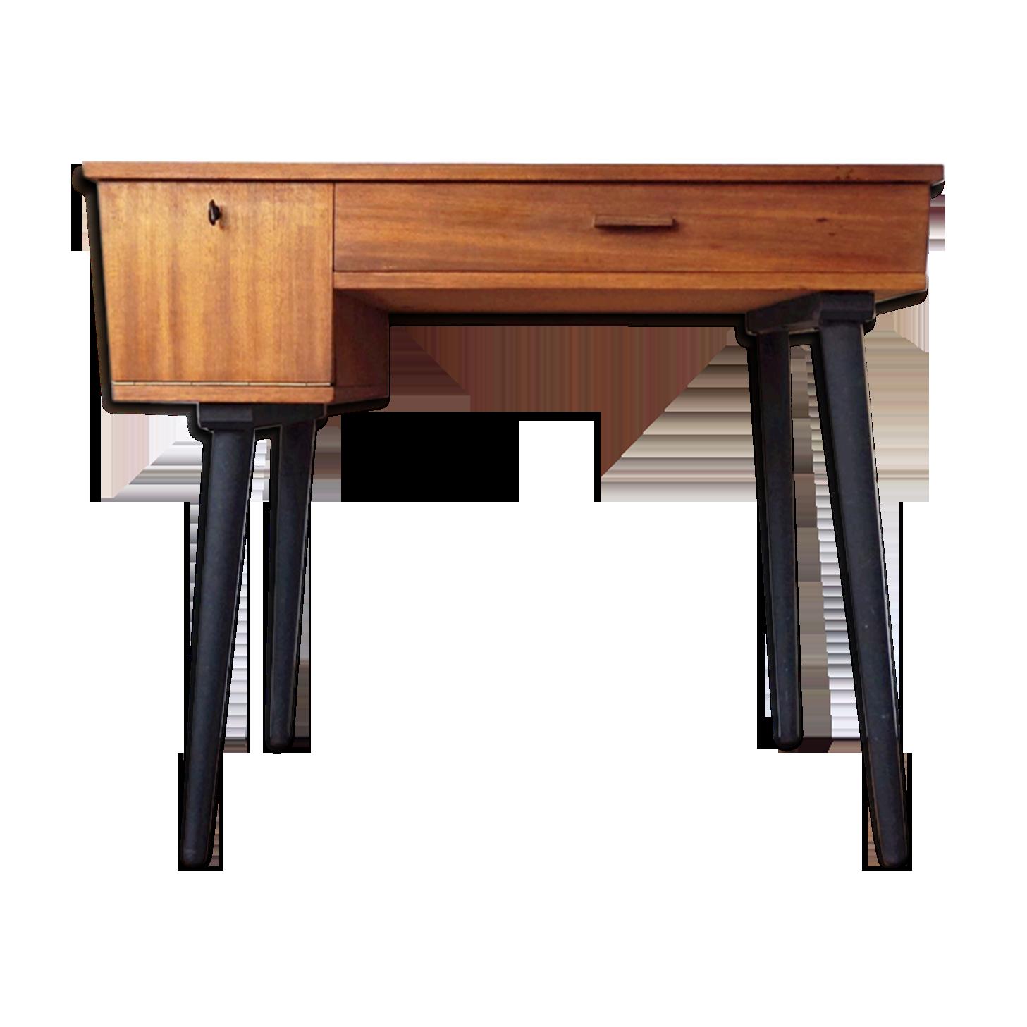 Bureau de style scandinave en bois des années bois matériau