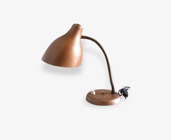 Petite lampe années 50 couleur cuivre
