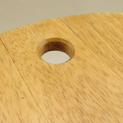 Tabouret et table en bois pliants vintage