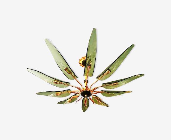 Lustre de Fontana Arte «dahlia» 10 feuilles