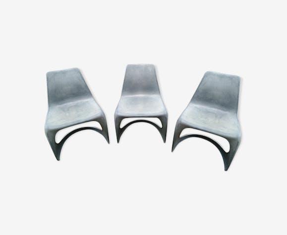 """3 chaises """"Modo 290"""" de 1966 Steen Ostergaard pour Cado"""