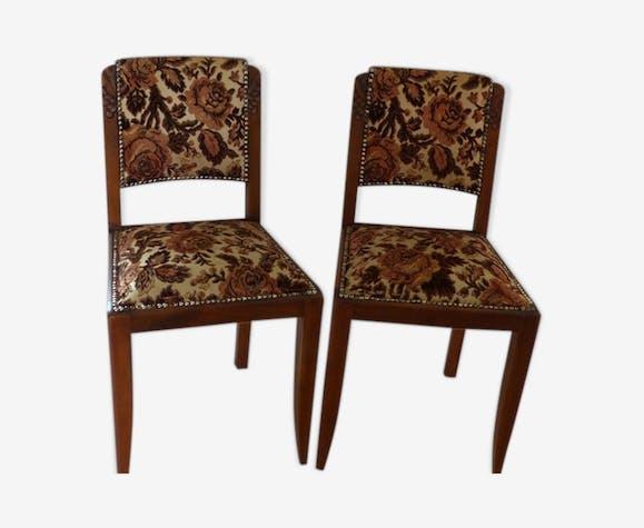 Paire de chaises vintage années 40 | Selency