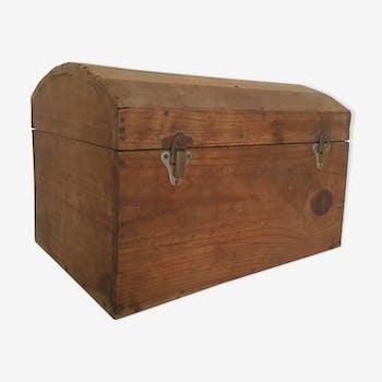 Coffre de bois cintré 19eme