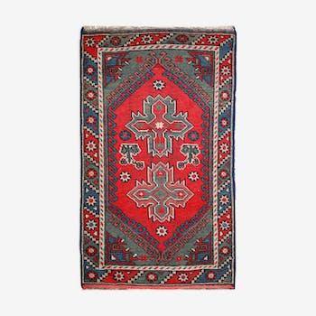 Carpet former Turkish anatolian done hand 1920 - 131x74cm