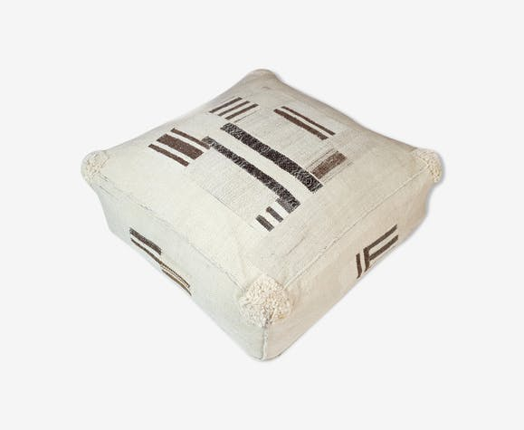 Vintage 60x60 kilim floor cushion cover