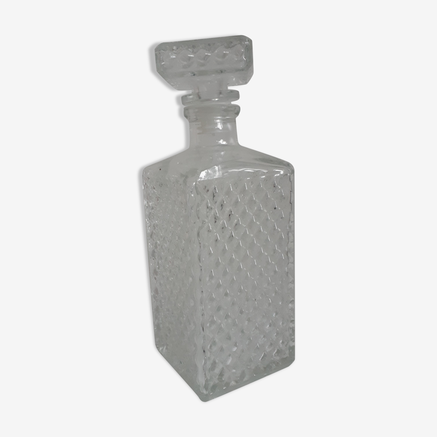 Authentic decanter whiskey relief